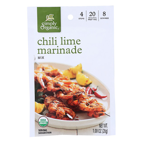 Simply Organic Chili Lime Marinade Mix - 1.0oz (28g)