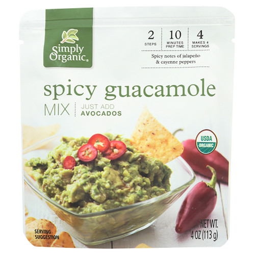Simply Organic Spicy Guacamole Mix Sauce - 4.0 fl oz (113g)