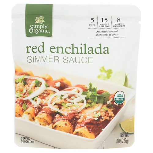 Simply Organic Red Enchilada Simmer Sauce - 8.0 fl oz (227g)