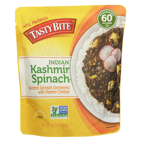 Tasty Bite Indian Kashmir Spinach Entree - 10oz (285g)