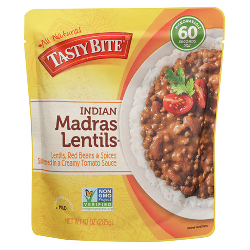 Tasty Bite Indian Madras Lentils Entree - 10oz (285g)