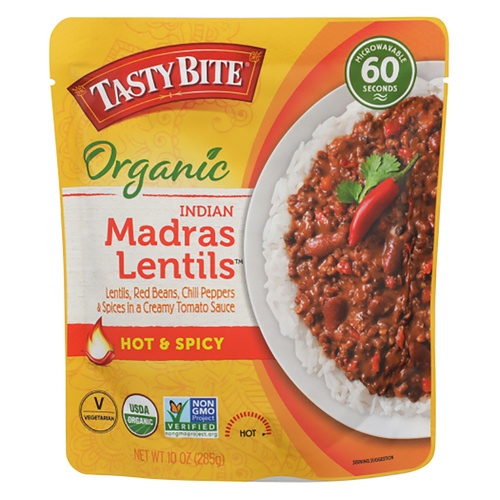 Tasty Bite Indian Madras Lentils Hot & Spicy Entree - 10oz (285g)