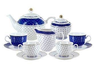 Blue Twinkle Porcelain Tea Set