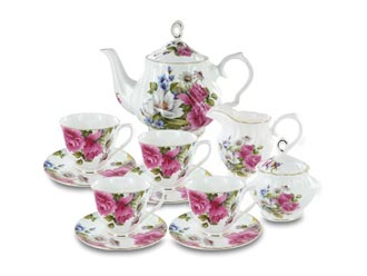 Grace's Rose Fine Bone China by Coastline Imports