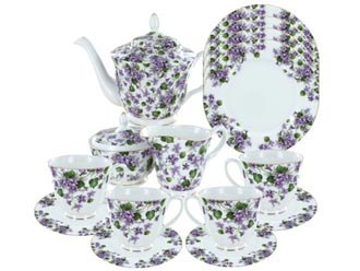 Gracie's Violets Bone China