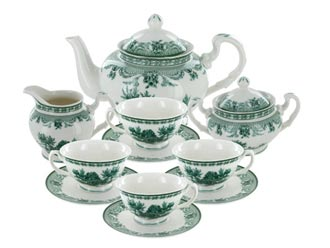 Green Toile Porcelain