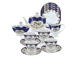 Royal Blue Bird Porcelain