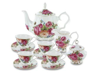 Sandra's Rose Fine Bone China by Coastline Imports