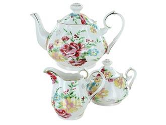 Shabby Rose Cream Tea Set
