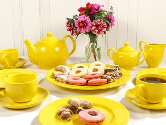 Solid Color Porcelain Tea Sets