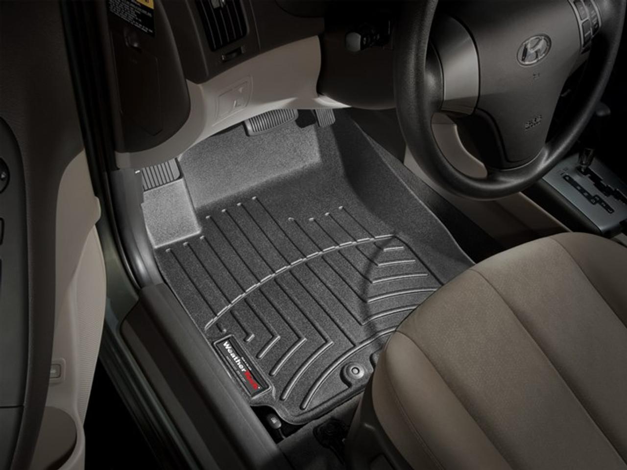 1st Row Black WeatherTech FloorLiner for Hyundai Elantra 2007-2010