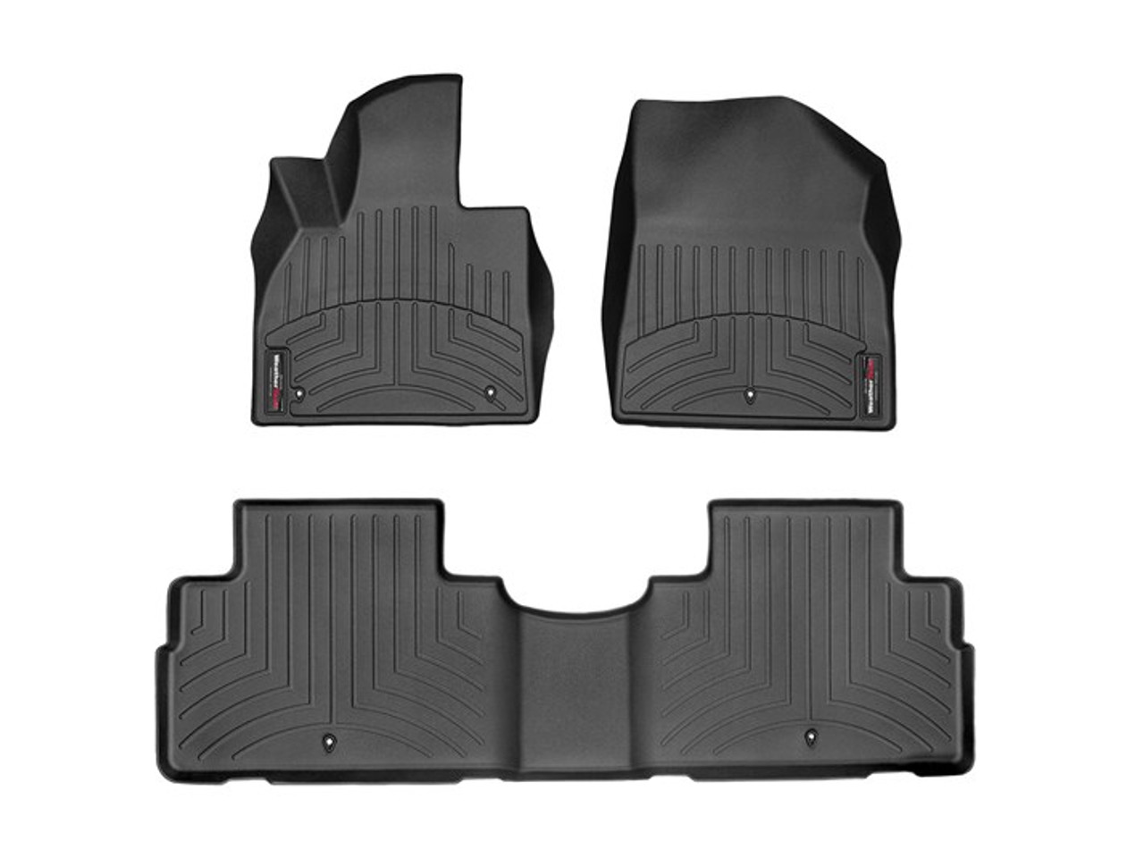 2020-2021 Hyundai Palisade WeatherTech Floor Liners - First and Second Row (Black)