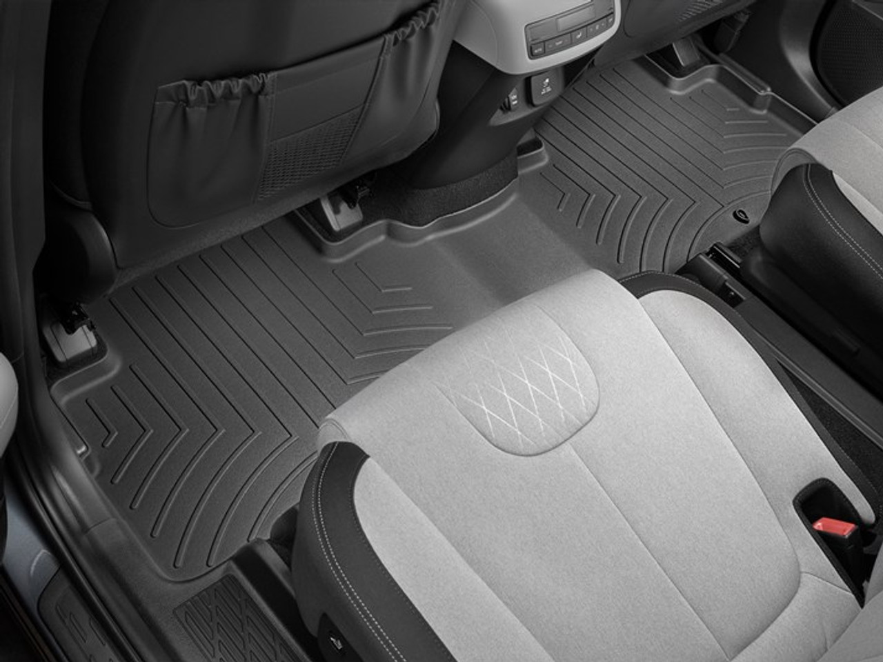 2020-2021 Hyundai Palisade WeatherTech Floor Liners - Second Row (Black)