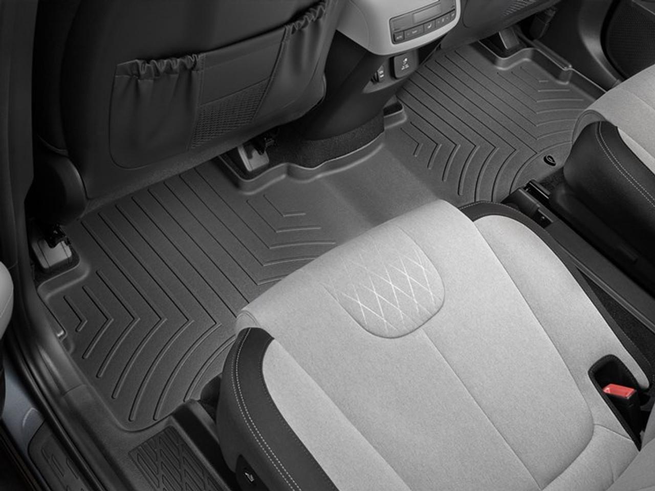 2020-2022 Hyundai Palisade WeatherTech Floor Liners - Second Row (Black)