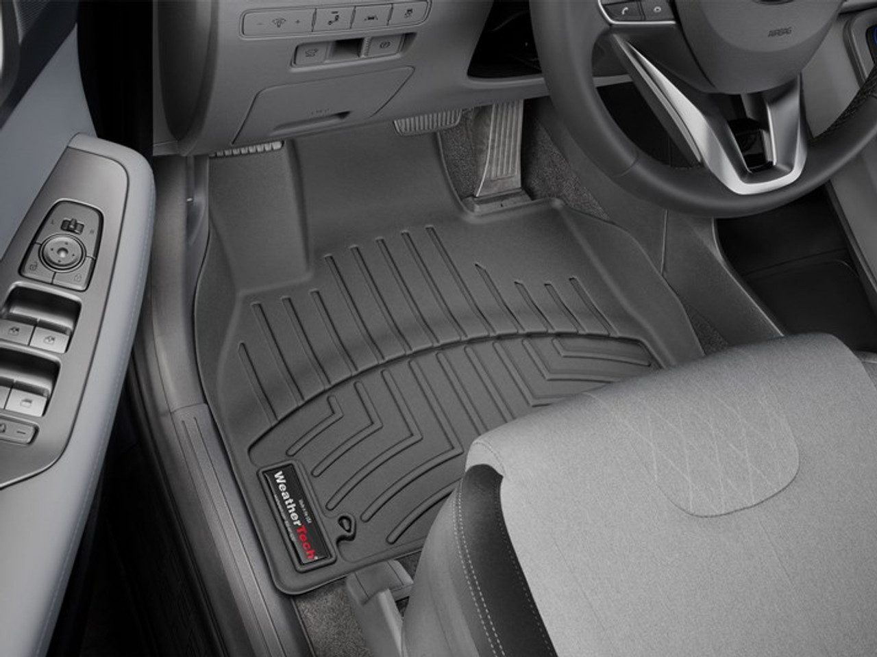 2020-2021 Hyundai Palisade WeatherTech Floor Liners - First Row (Black)