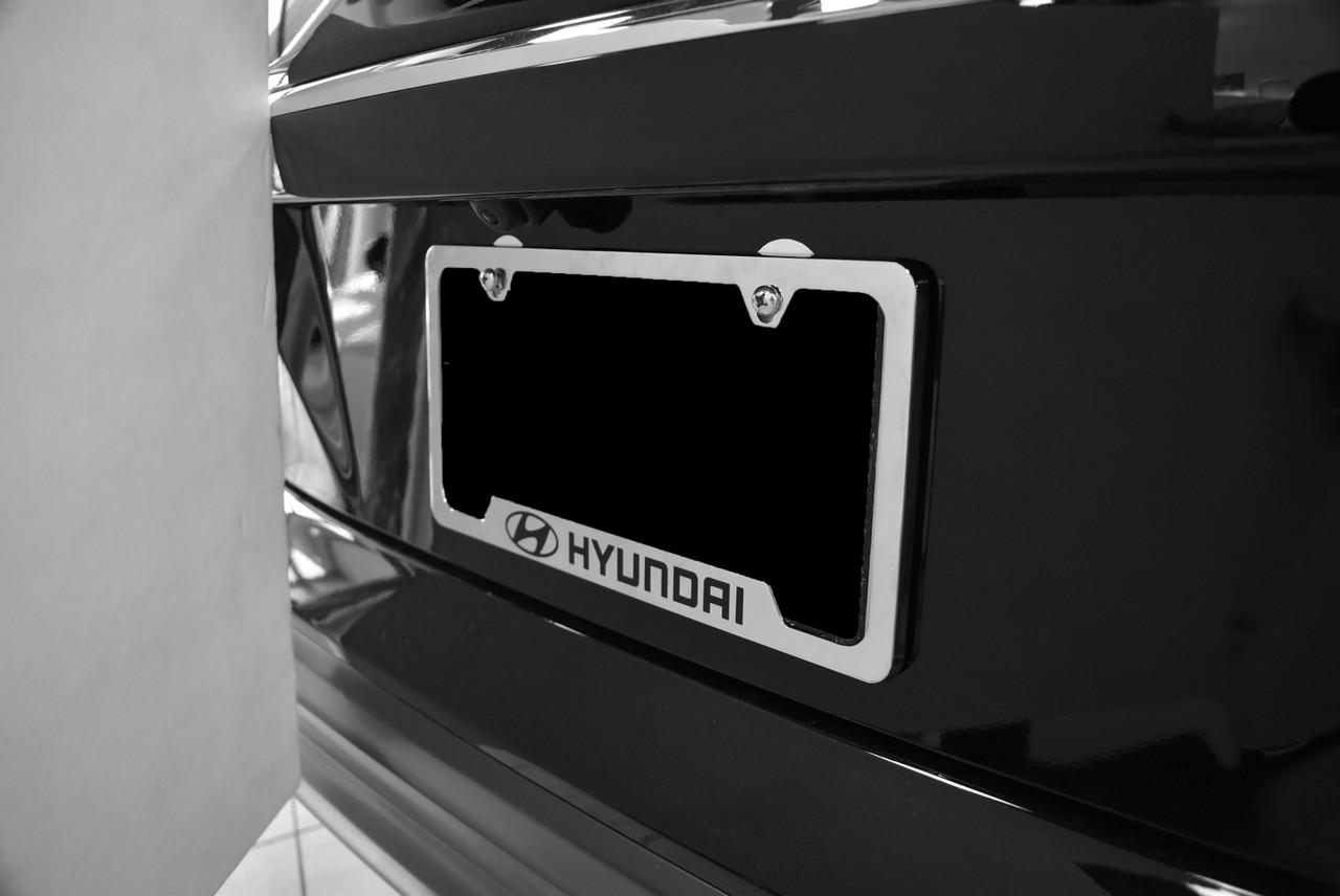 Hyundai License Plate Frame (Chrome) - On Vehicle