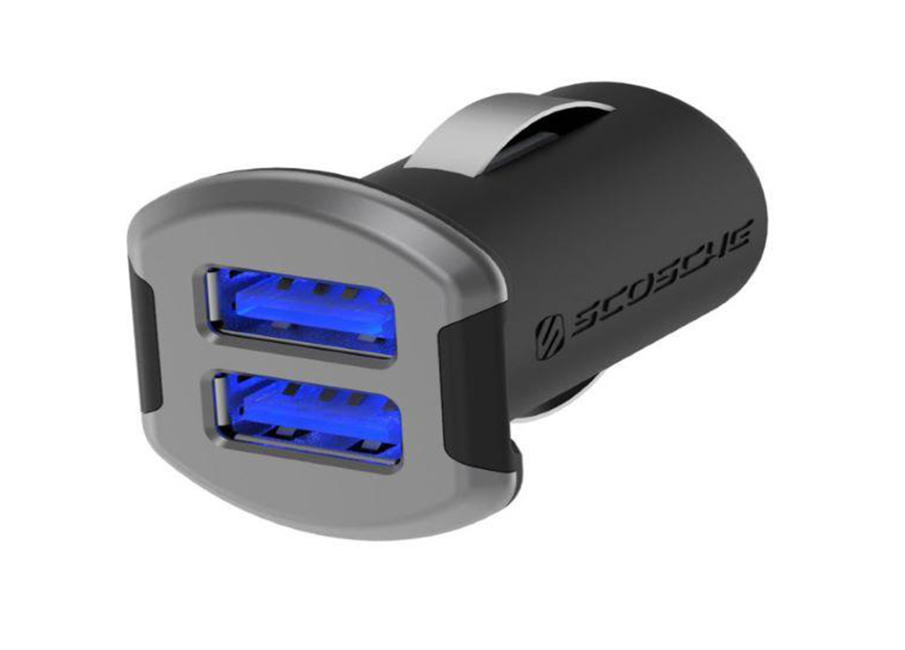 Dual 12W Illuminated USB Car Charger