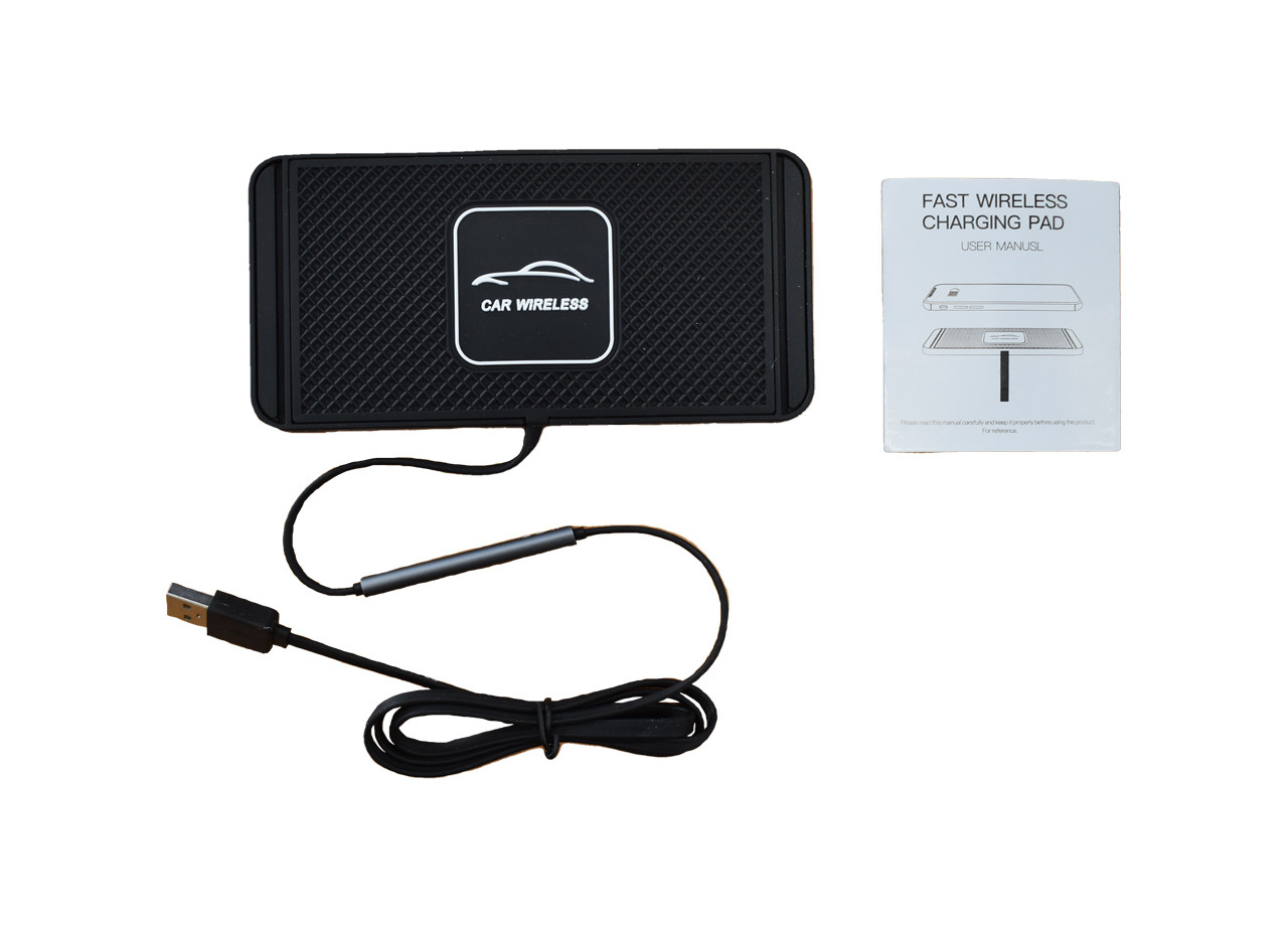 Wireless Phone Charging Pad With Instructions