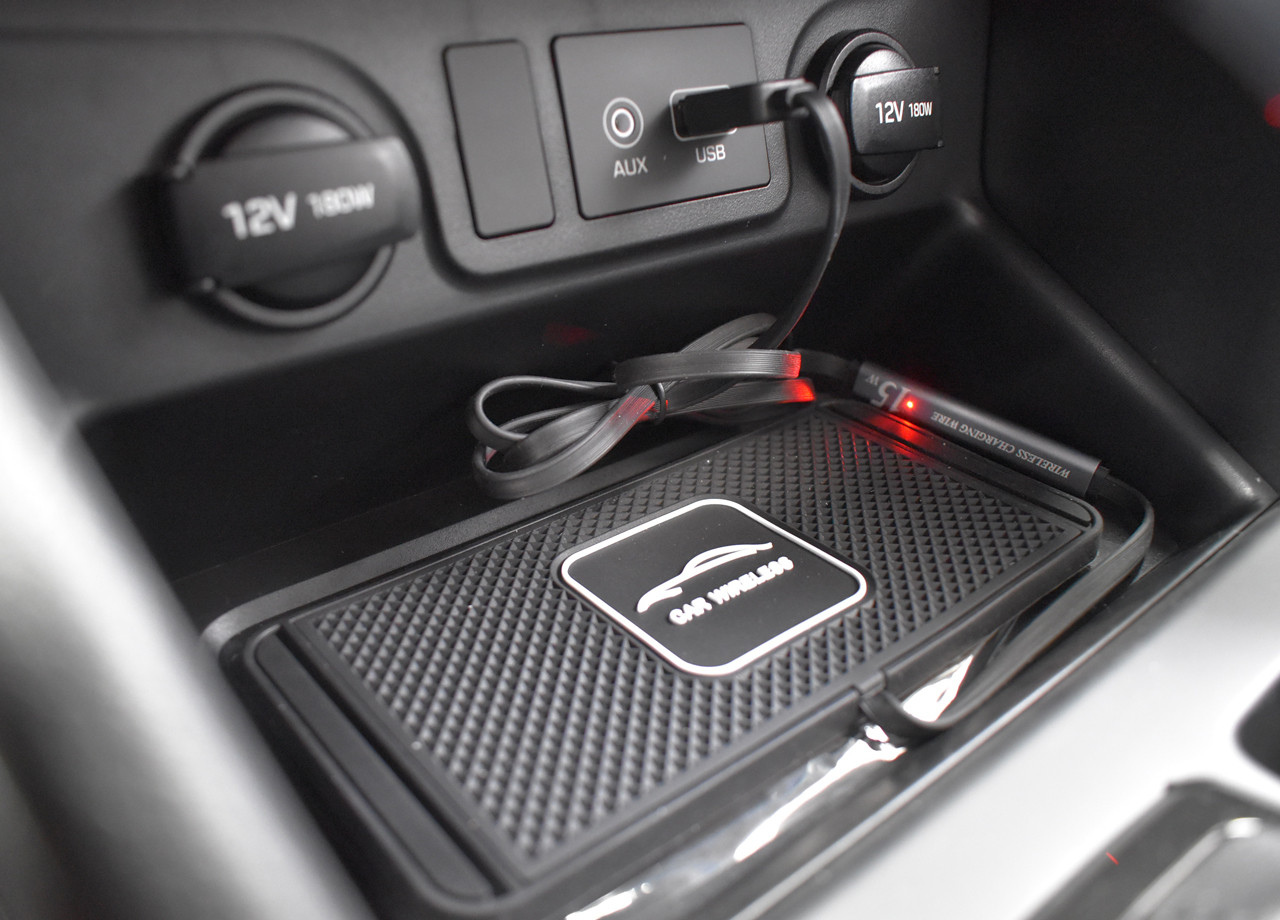 Wireless Phone Charging Pad In Vehicle