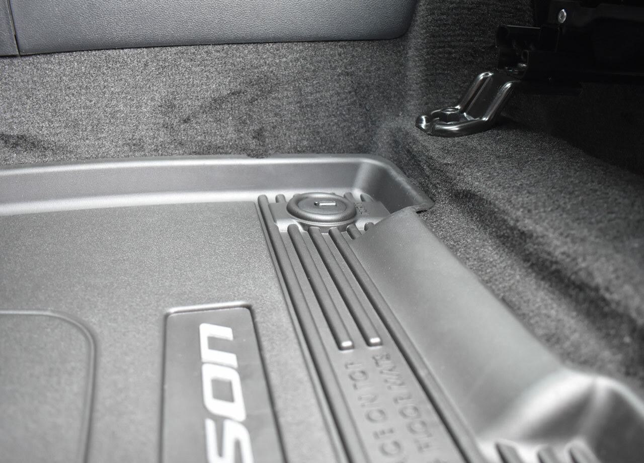 2022 Hyundai Tucson All Weather Floor Mats - In Tucson (Driver Mat - Close Up)