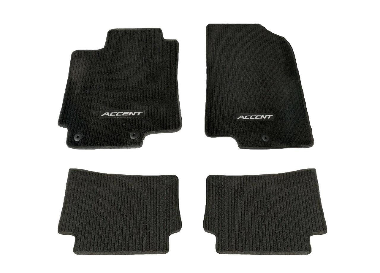 2012-2017 Hyundai Accent Floor Mats (Black)