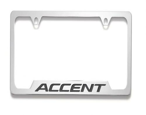 Hyundai Accent License Plate Frame - Chrome