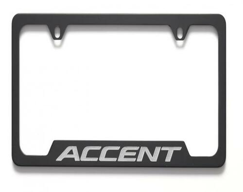 Hyundai Accent License Plate Frame - Black
