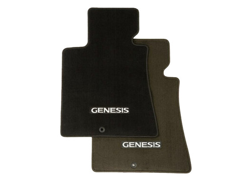 2009-2010 Hyundai Genesis Floor Mats (Brown and Black)