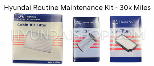 Hyundai Routine Maintenance Kit - 30K Miles
