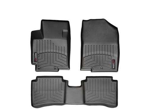 2013-2017 Hyundai Accent WeatherTech Floor Liners - Black