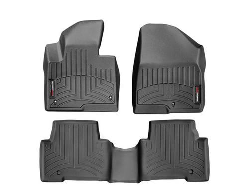 Hyundai Santa Fe Sport WeatherTech Floor Liners - Full Set Black