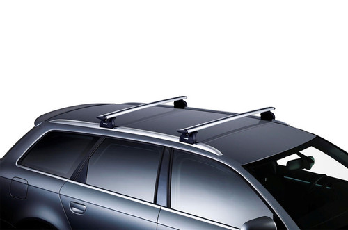 "Hyundai Elantra Thule Roof Rack Kit - 53"" Evo WingBars - Stock Photo"