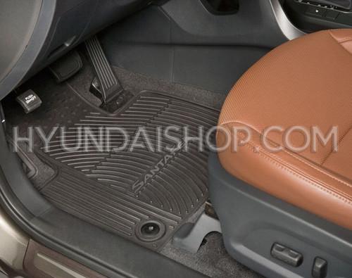 Hyundai Santa Fe XL Rubber Floor Mats