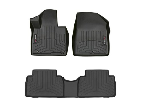 2019-2020 Hyundai Santa Fe WeatherTech Floor Liners - Full Set (Black)
