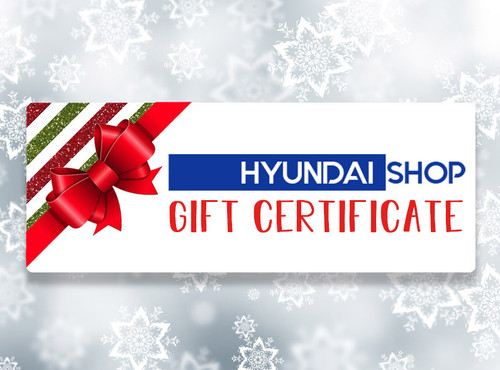 Hyundai Shop Gift Certificate