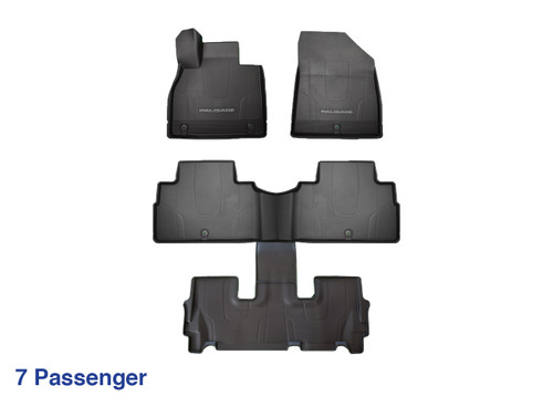 2020-2021 Hyundai Palisade All Weather Floor Mats (7-Passenger)