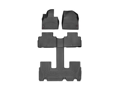 2020-2022 Hyundai Palisade WeatherTech Floor Liners - Full Set (Black)