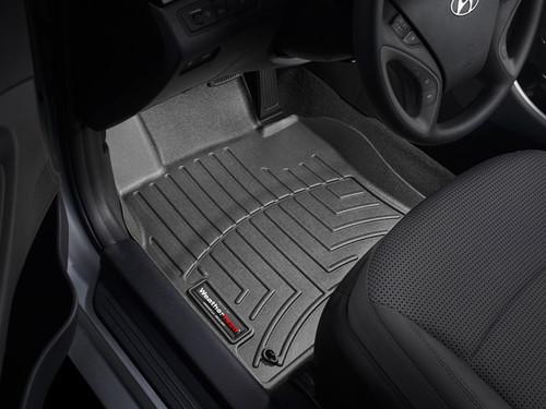 2011-2014 Hyundai Sonata WeatherTech Floor Liners - Front Row, Black