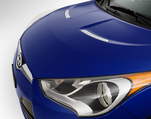 Hyundai Veloster Chrome Hood Vent Covers
