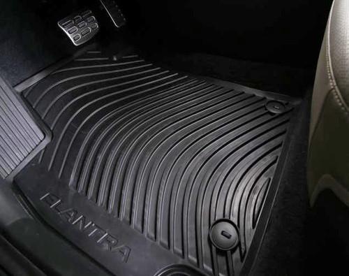 2017 Hyundai Elantra Rubber Floor Mats