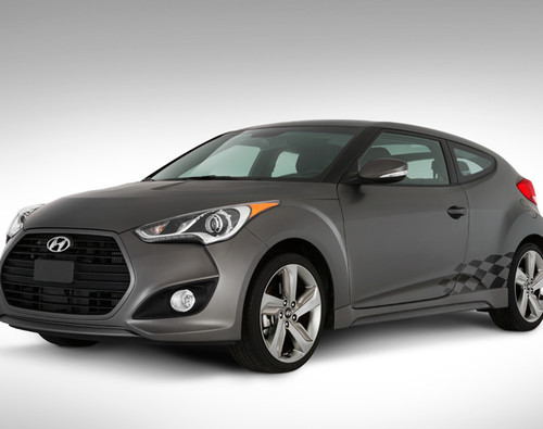 Hyundai Veloster Checkered Body Graphic