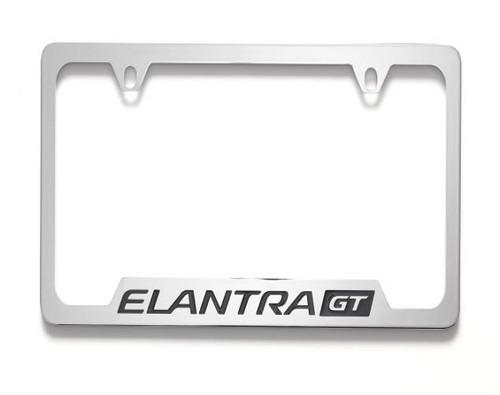 Hyundai Elantra GT License Plate Frame - Chrome