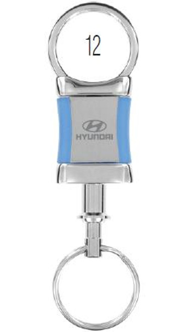 Hyundai Keychain - Pull-a-part Rectangular Shaped, Blue Sides