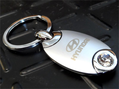 Hyundai Keychain - Oval Shaped (N013)