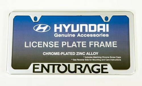 Hyundai Entourage License Plate Frame