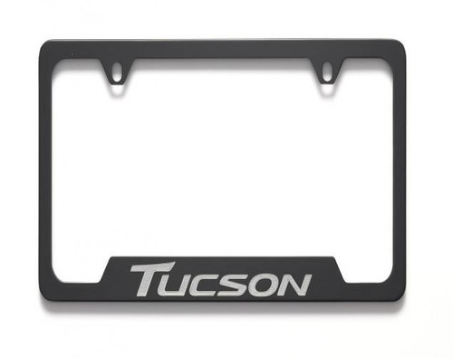 Hyundai Tucson License Plate Frame - Black