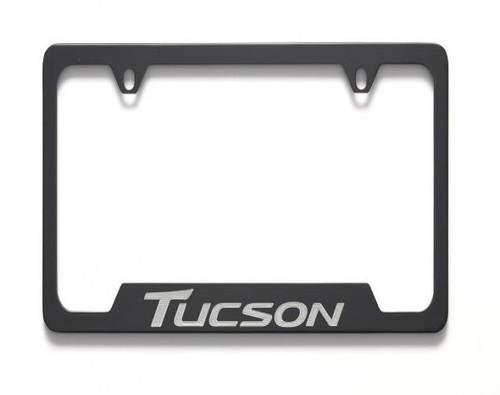 Hyundai Tucson License Plate Frame - Black