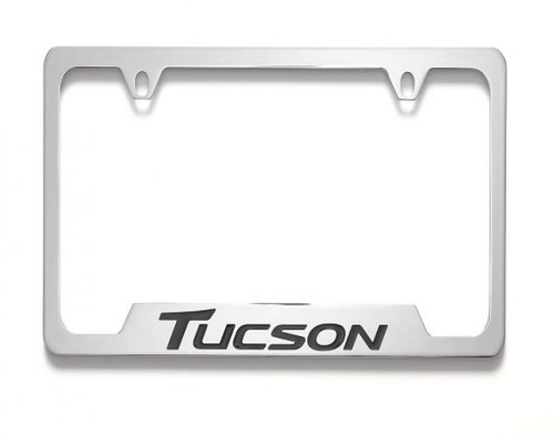 Hyundai Tucson License Plate Frame - Chrome