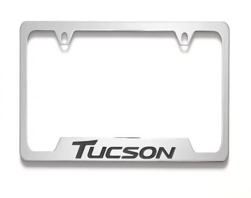 Hyundai Tucson License Plate Frame - Chrome