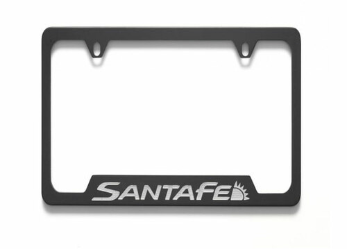 Hyundai Santa Fe License Plate Frame - Black
